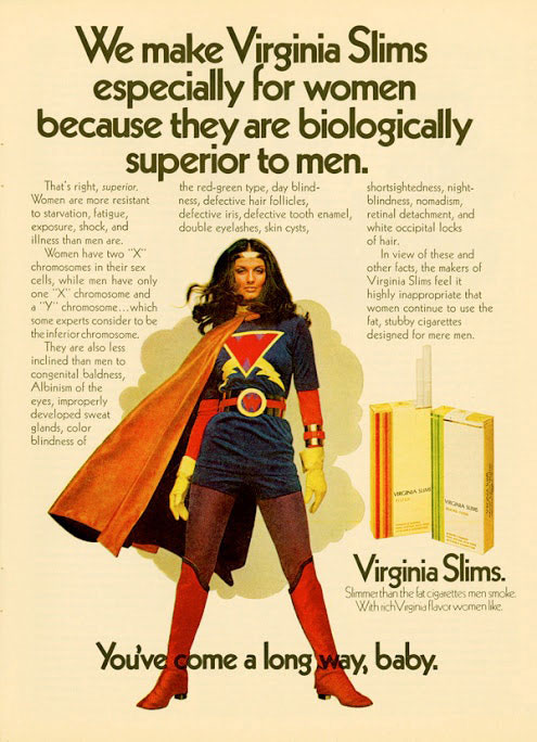 publicité féministe Virginia Slims