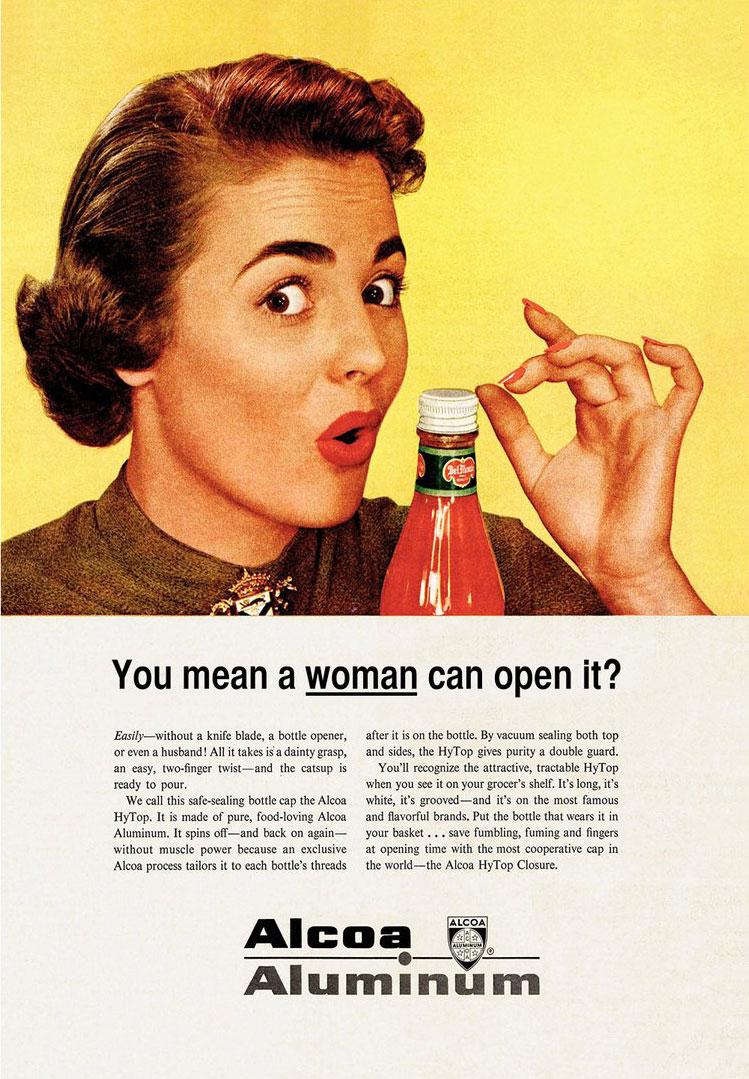 publicité sexiste Alcoa aluminium