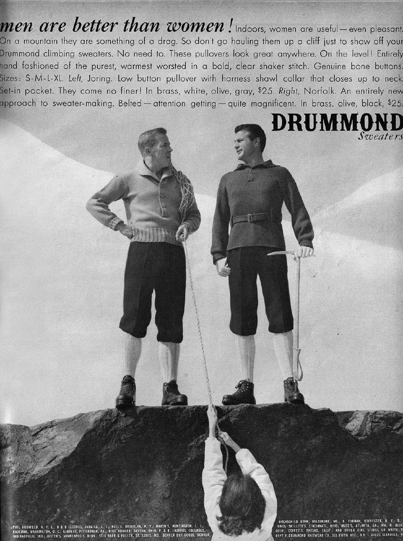 publicité sexiste Drummond Sweaters