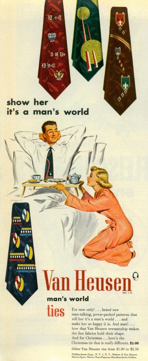 publicité sexiste Cravates Van Heusen (1951)