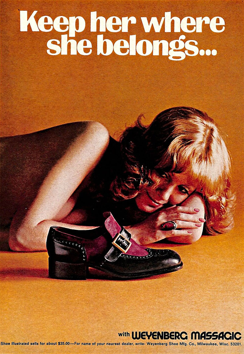 publicité sexiste Weyenberg Massagic Shoes (1974)