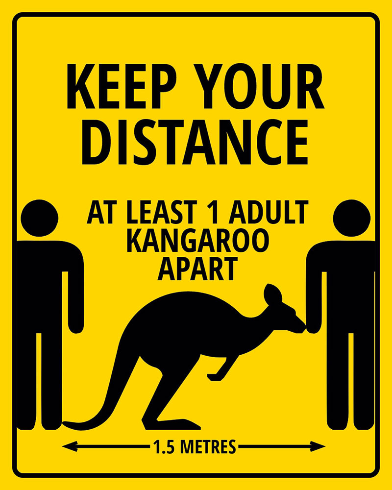 publicité coronavirus Australie