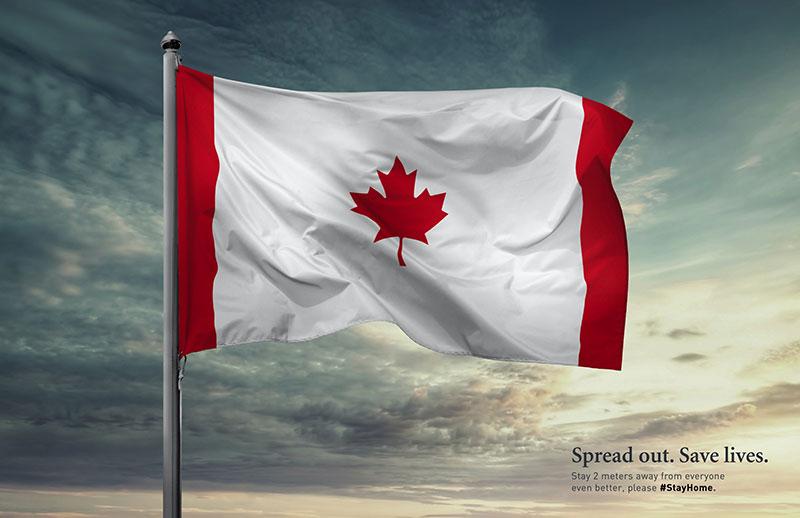 publicité coronavirus Canada