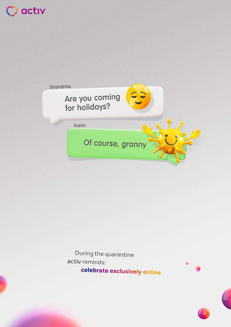 publicité coronavirus Kazakhstan