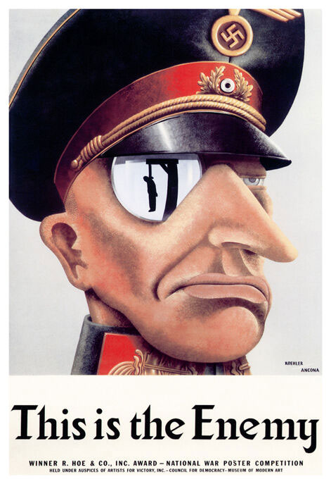 poster propagande WWII: this is the ennemy