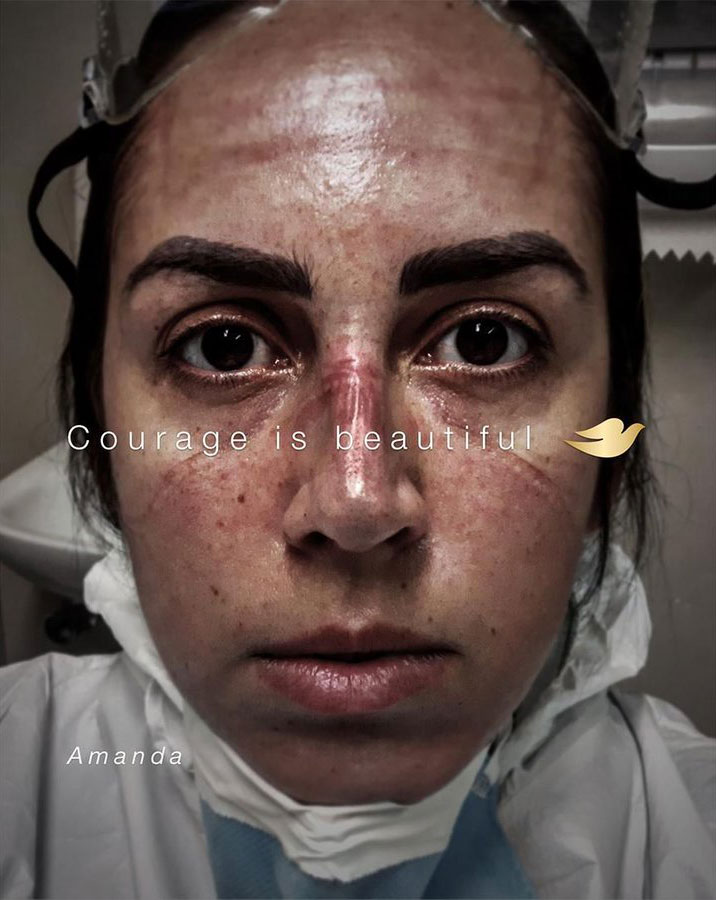 publicité coronavirus Dove
