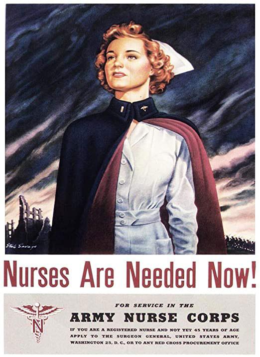 poster 2ème guerre mondiale : infirmières