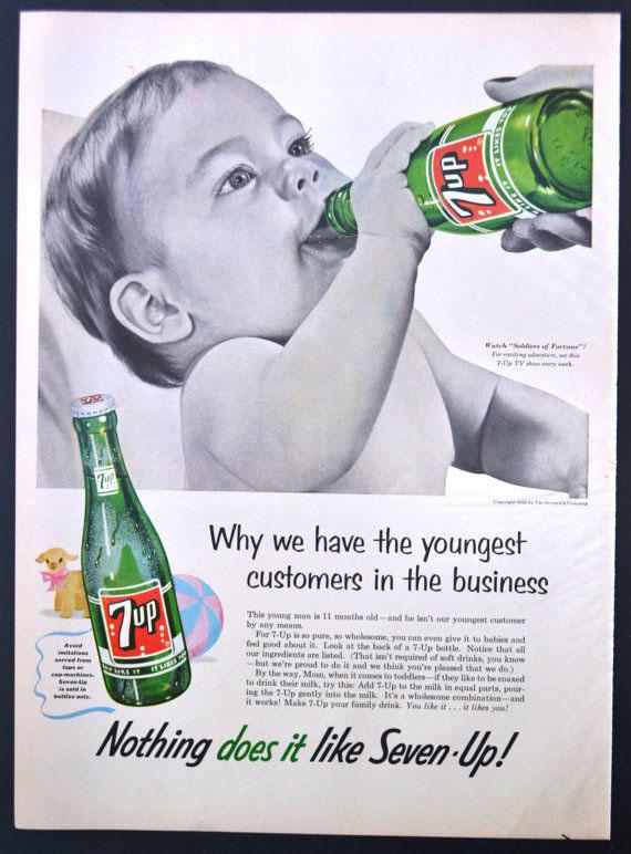 Pub 7-up enfant, 1955