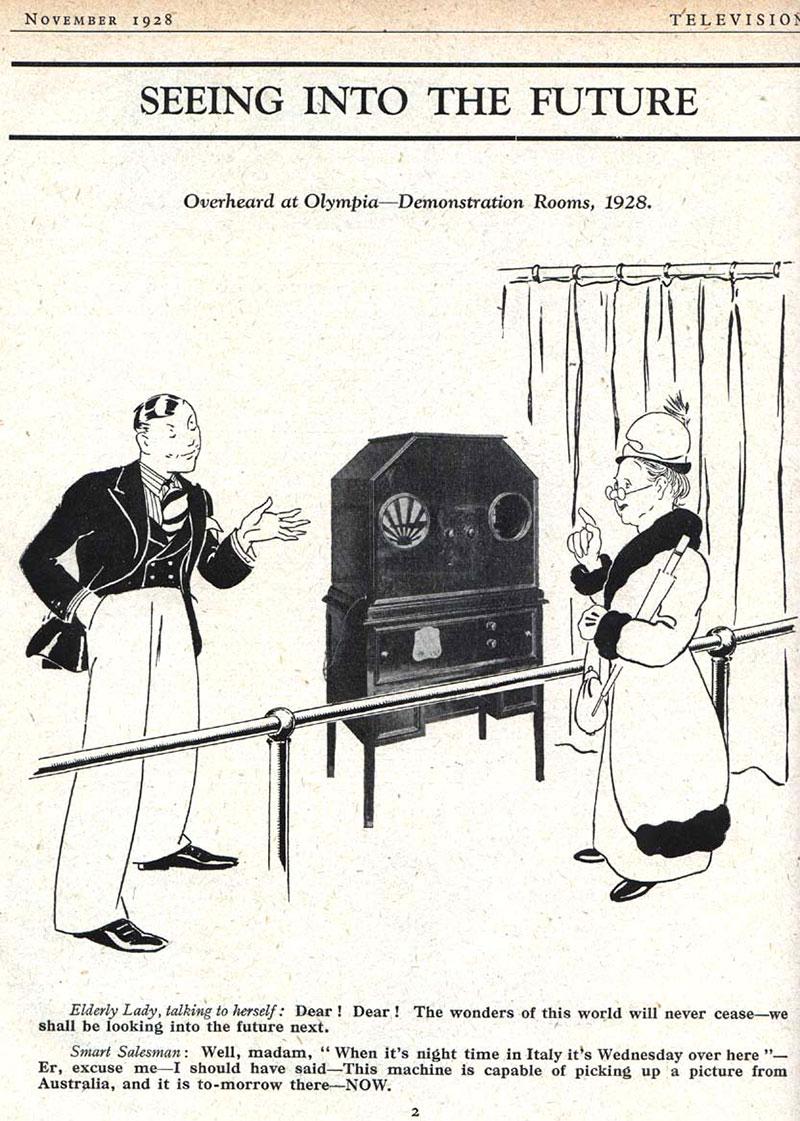 Baird Televisors exposé au Radio Exhibition de Londres en 1928