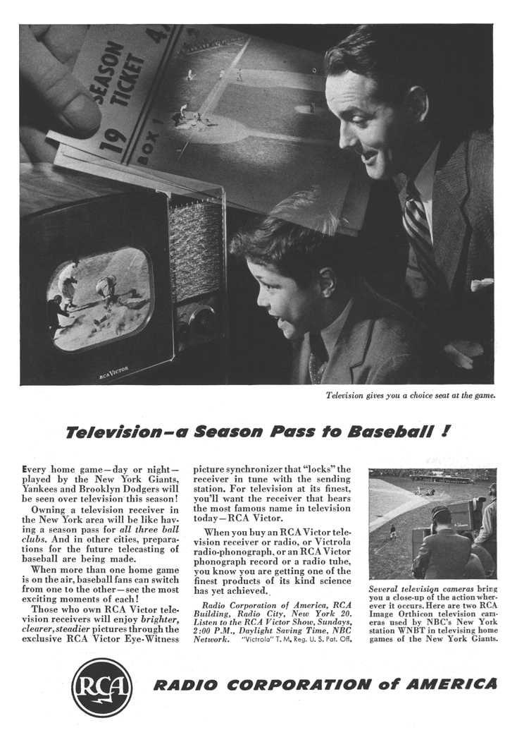 publicité télévision RCA1 946