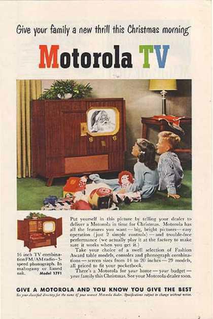 publicité télévision Motorola années 40
