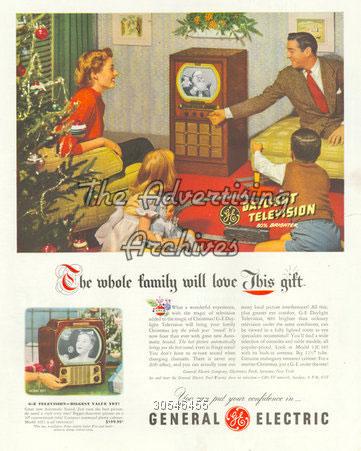publicité télévision General Electric années 40
