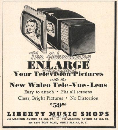 publicité walco tele vue lens