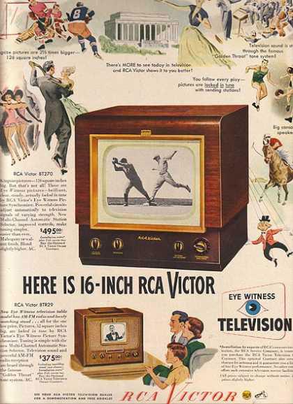 publicité télévision RCA Victor années 40