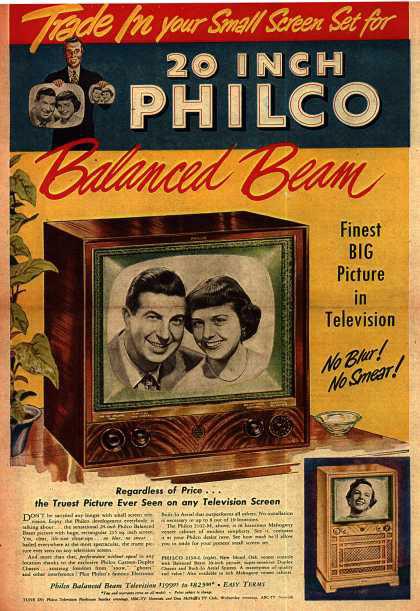 publicité télévision Philco années 40