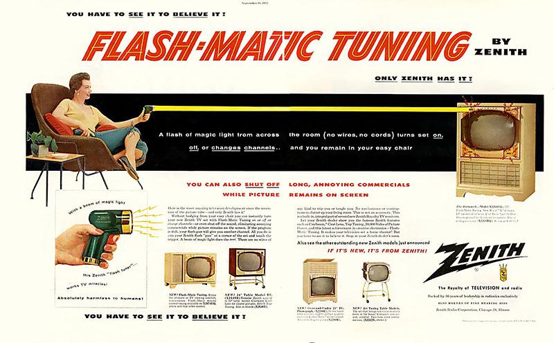 publicité telecommande Zenith flash-matic