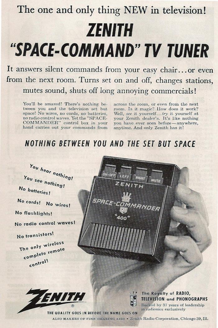 publicité télécommande Zenith space-command