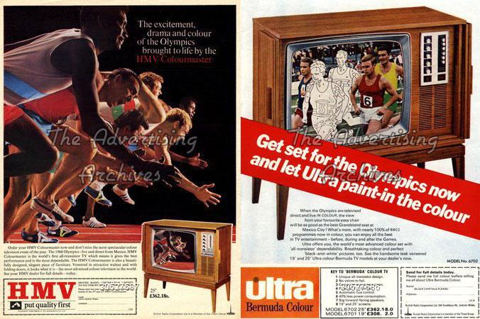 publicités tv couleur - années 60