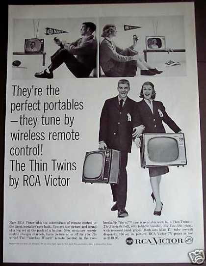 publicité télévision RCA Victor Thin Twins