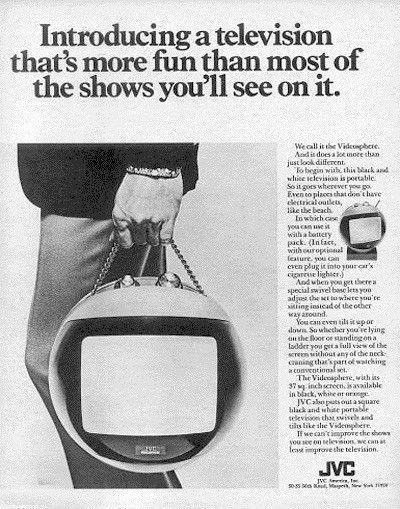 publicité télévision JVC videosphere 1970