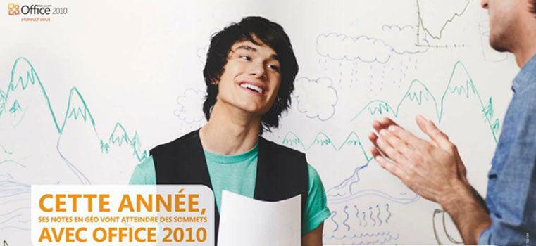 Non, tu n'auras pas des meilleures notes grâce à Office 2010 !