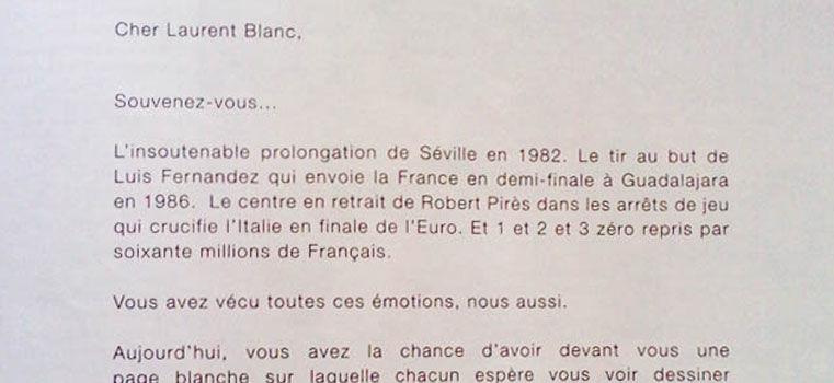 Nouvelle pub PMU : lettre ouverte à Laurent Blanc, vraiment ?