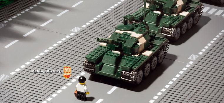 L'homme au tank de Tian'anmen : une image forte recyclée par les médias